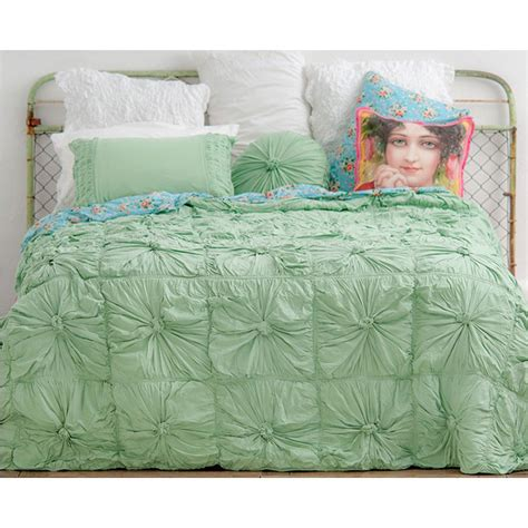 lazybones bedding lazybones bedding rosette mint quilt jersey cotton