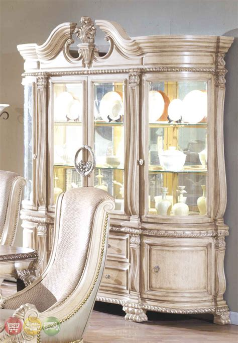 antique white dining room set halyn antique white formal dining room set with extension leaf