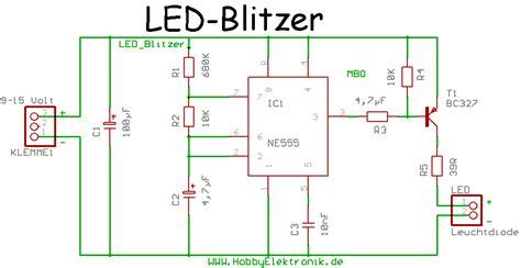 Motorrad Led Blinker Widerstand Berechnen by Led Blitzlicht Mikrocontroller Net