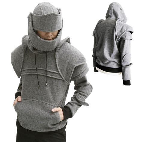 Sweater Anime Sword Black duncan armored hoodie