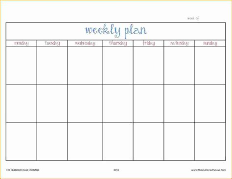work day planner template 7 work week calendar template authorization letter