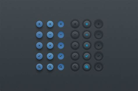 ui pattern buttons button clean psd simple ui design ui kit psd file free