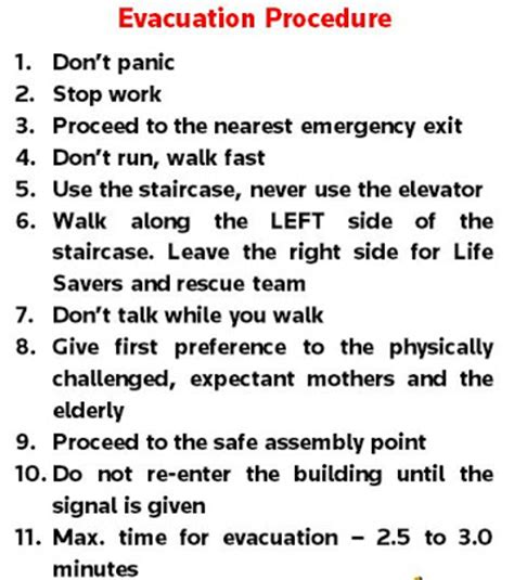 evacuation procedure template free ert and evacuation drill 19 21 may 2012