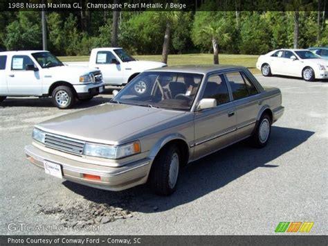 1988 nissan maxima chagne pearl metallic 1988 nissan maxima gl beige