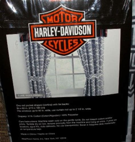 harley davidson window curtains harley davidson logo shield flame rider window curtains