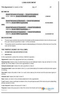 Unsecured Loan Agreement Template by Unsecured Loan Agreement With Guarantee