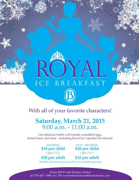 Royal Ice Princess Party Flyer Poster Template Princess Party Pinterest Princesses Ice Disney Flyer Template