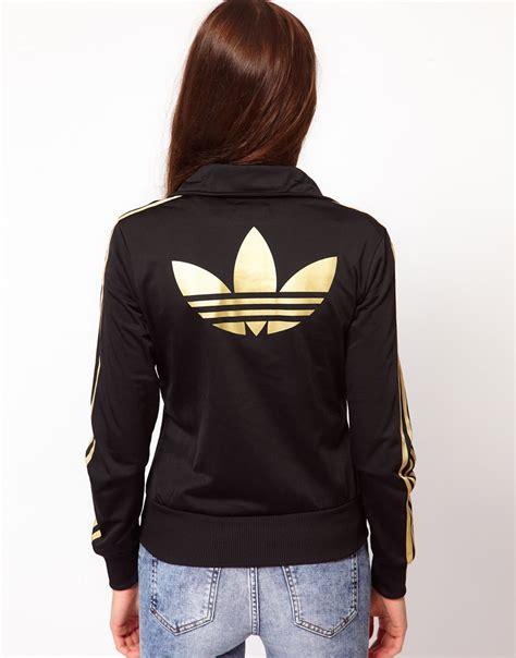 Jaket Adidas Firebird Gold Made In Indonesia lyst adidas firebird track top in black