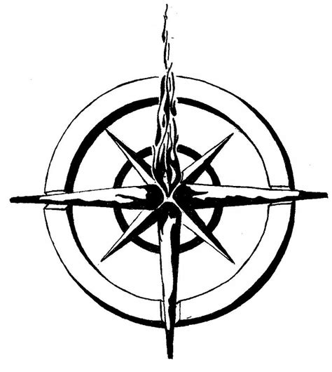 nautical compass rose tattoo nautical compass meaning tattoomagz
