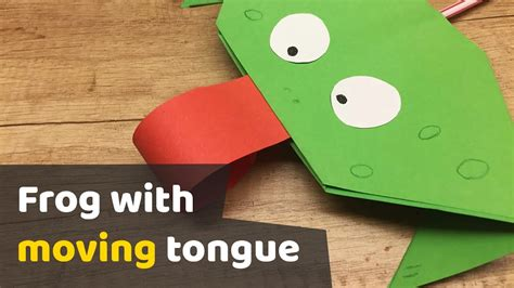 How To Make A Paper Frog Tongue - diy tutorial paper frog with moving tongue for