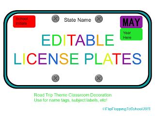 License Plate Template Pdf
