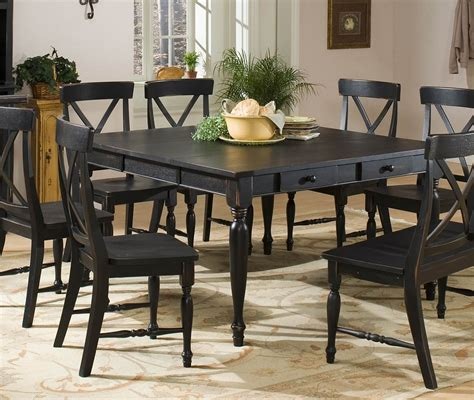 excellent black dining table set decorating black dining
