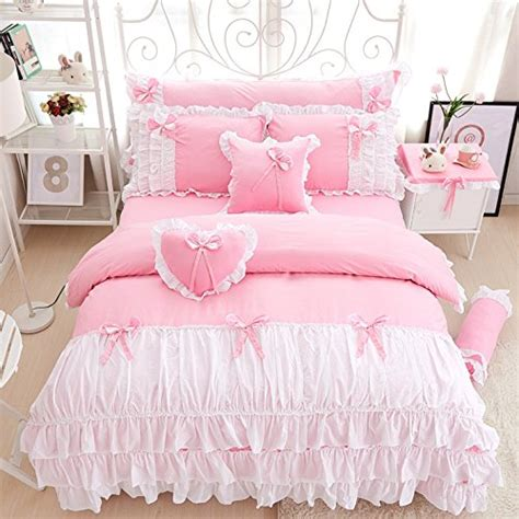 girls bedding sisbay romantic princess bowknot bedding pink twin baby