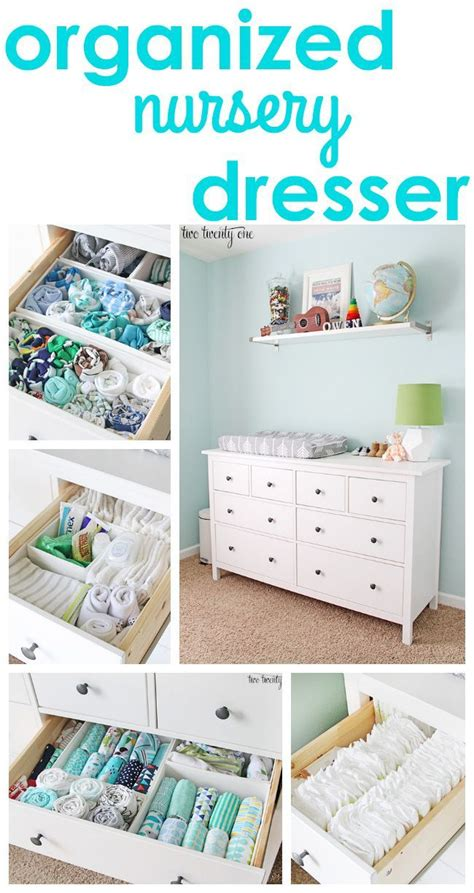tips and tricks for an organized nursery dresser a
