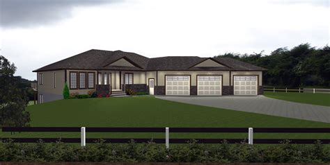 House Plans With 3 Car Attached Garage By E Designs