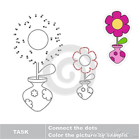 find the dots flower join dots and find the hidden picture stock vector image 59623166