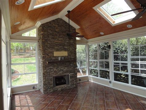 Raleigh Fireplace by Raleigh Sunrooms Three 3 Season Rooms Eze