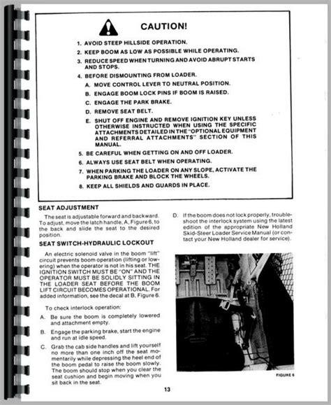 New Holland L553 Skid Steer Operators Manual