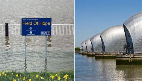 thames barrier burst flood alerts issued for london after river thames bursts