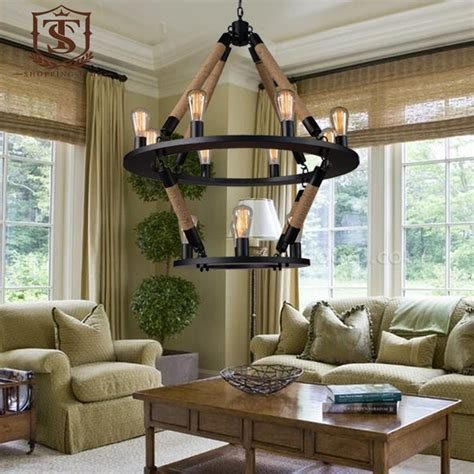 large living room chandeliers loft special 2 layer chandelier 2 layer 12 lights american country style large hobby room living