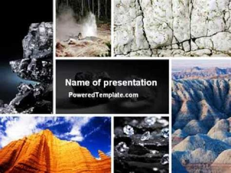 geology themes for powerpoint mineral powerpoint template by poweredtemplate com youtube
