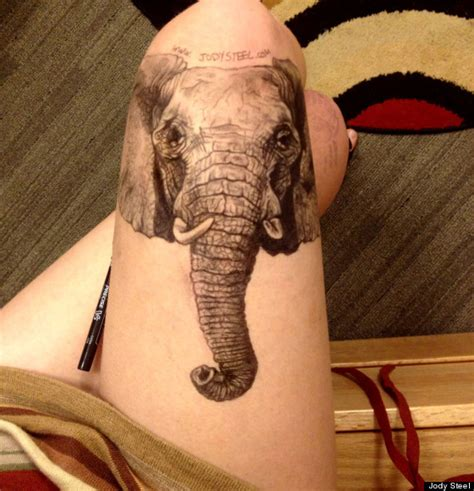 elephant tattoo from bad ink leg drawings ripped skin cats and breaking bad featured