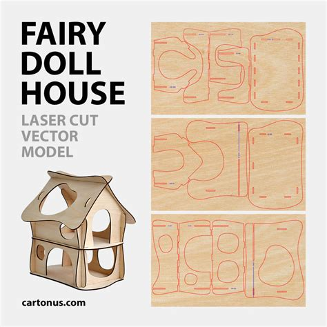 Instan Fahira Cutting Modern doll house vector model for laser cut instant