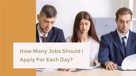 how many should i apply for each day career