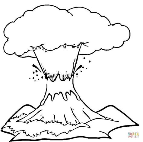 printable coloring pages volcanoes volcano eruption coloring page free printable coloring pages