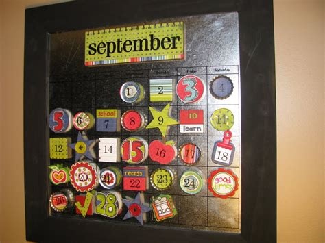Okay My Calendar September Magnetic Calendar Clean And Scentsible