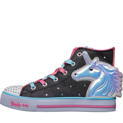 Skechers Unicorn by Buy Skechers Unicorn Twinkle Toes Hi Tops Grey