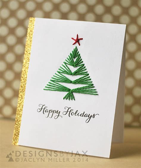 tree card stitch template 14 diy card ideas to make this season