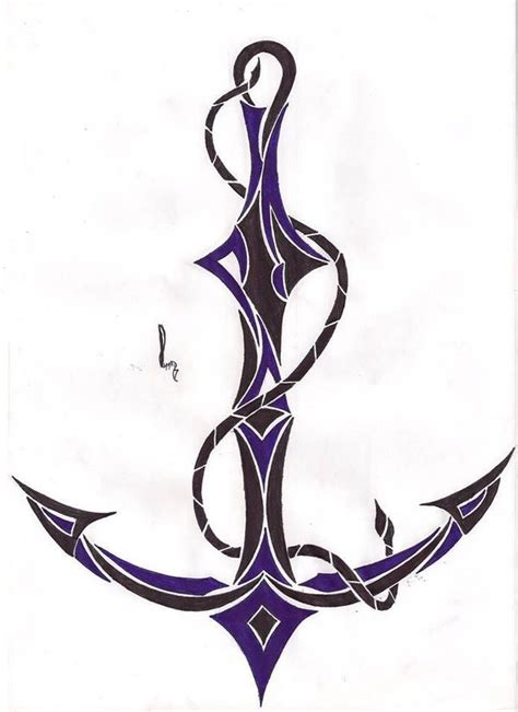 tribal anchor by cale on deviantart