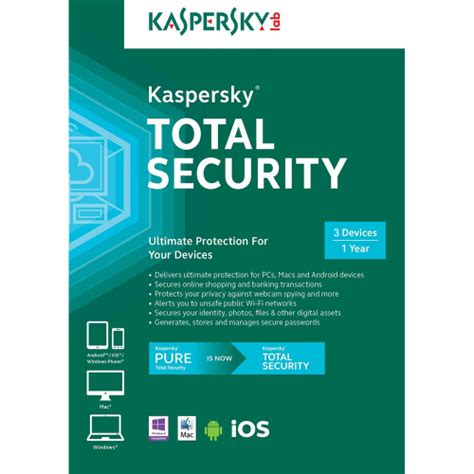 Kaspersky Security 2018 3 User Compatible For Mac kaspersky total security 2018 1 year 3 device americas