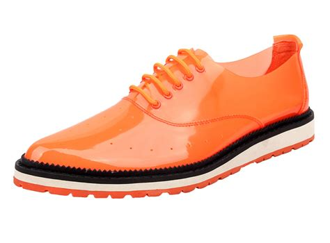 orange oxford shoes yuanmai brand s fashion formal designer lace up