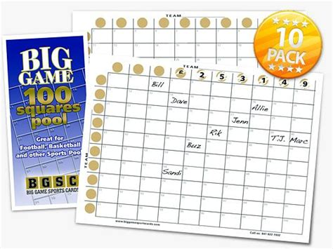 football betting card template football scratch card 100 squares pool free shipping