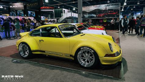 rwb porsche yellow classic garage rwb porsche 911 930 backdate long hood