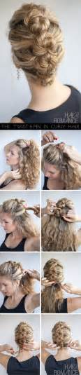curly hair updos step by step hairstyles for curly hair step by step