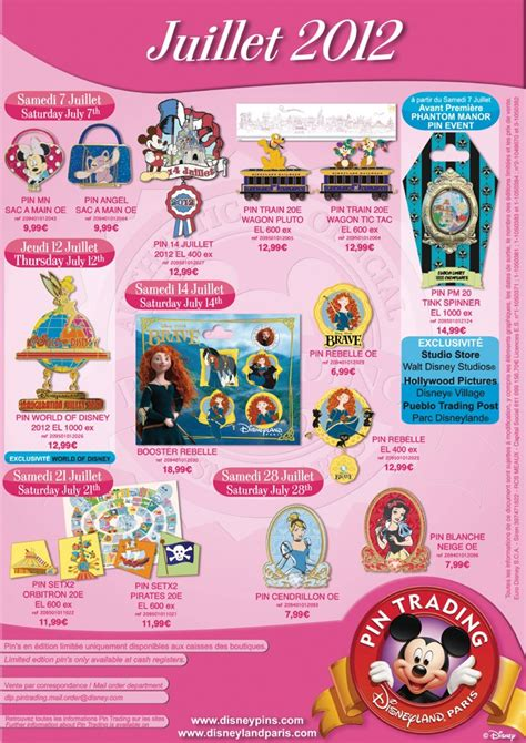 hot chip july 20 pin trading july 2012 releases dlp today disneyland