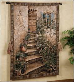 Hanging Wall Murals wallpaper murals tuscany vineyard style decorating tuscan wall mural