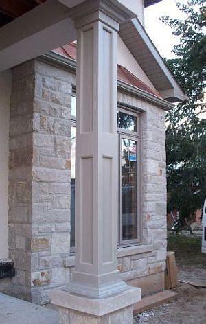 Exterior Column Wraps Recessed Paneled Exterior Pvc Column Wraps Traditional