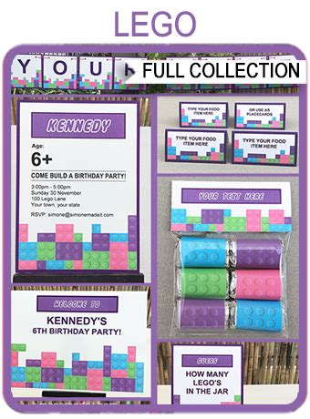 lego friends party printables invitations decorations