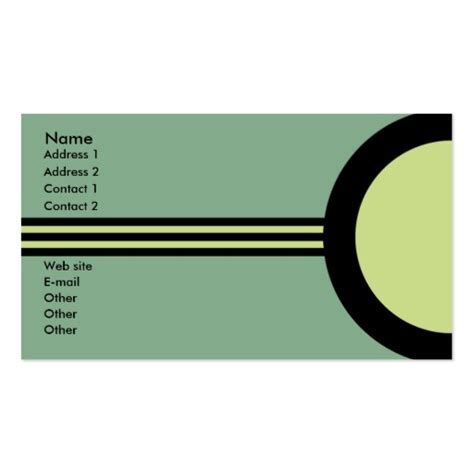 art deco retro business networking profile card business