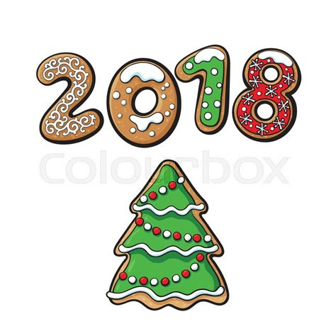 new year 2018 cookies singapore 2018 new year greeting card design with