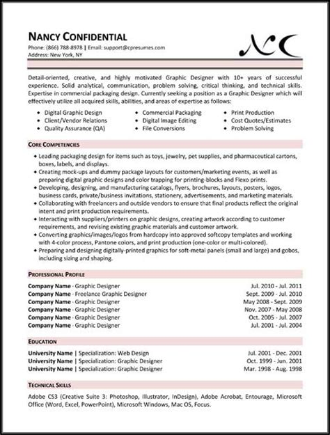 different resume templates resume sles types of resume formats exles and