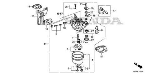 honda 6 5 hp engine parts diagram honda 5 hp carburetor diagram get free image about