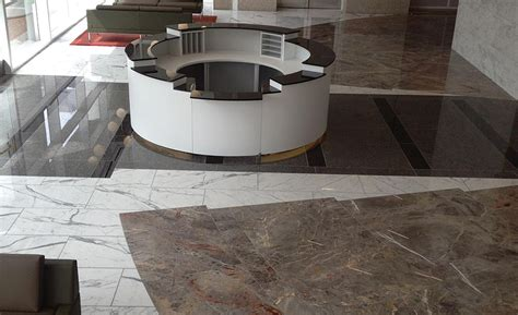 Commercial Bank Floor Plan marble and granite from italy were used to transform a san