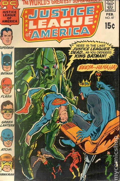 justice league the of the books justice league of america comic books issue 87