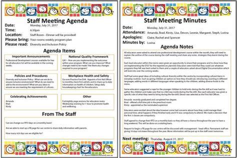 agenda format template masir