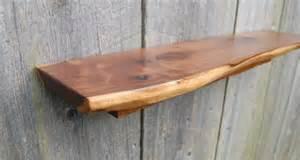 live edge walnut floating shelf